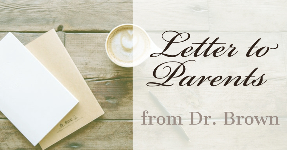 October 9 Letter to Parents
