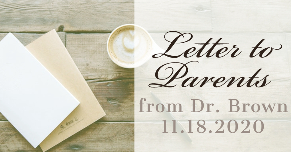Parent Letter: Upcoming Transition to Remote Learning