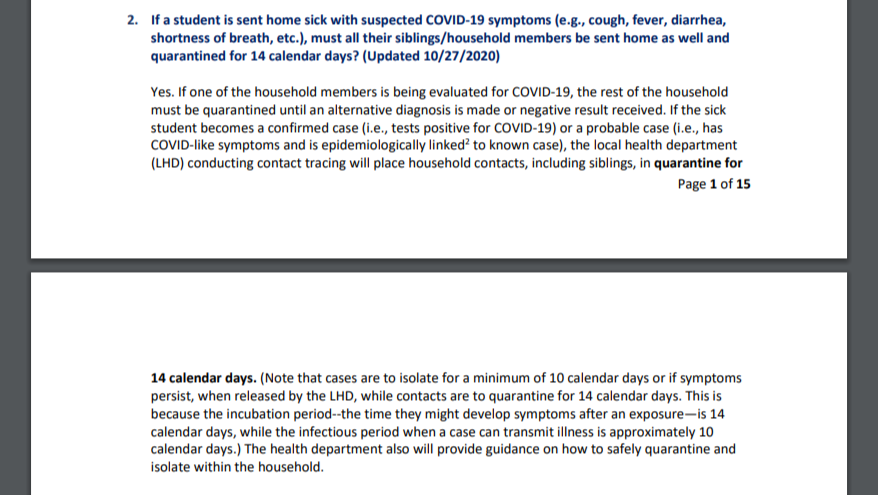 Illinois Department of Health Covid Guidance